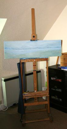 H-frame floor standing painting easel