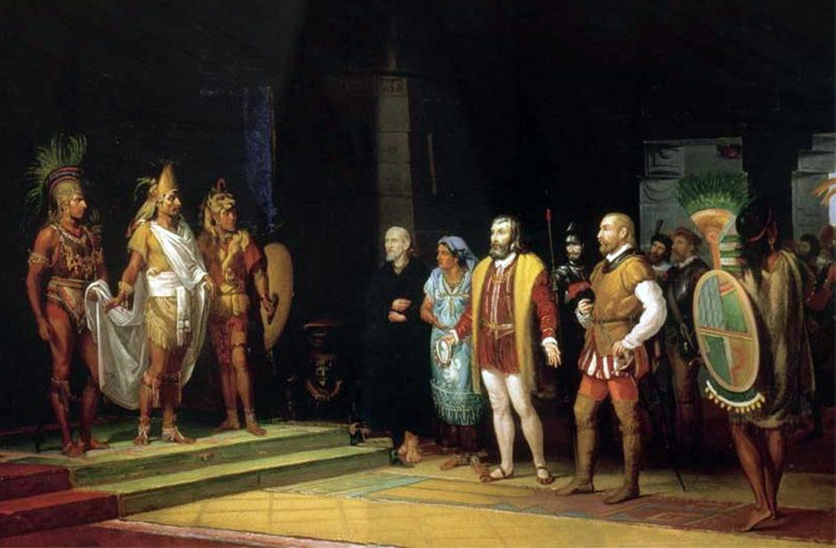 Montezuma and Cortes