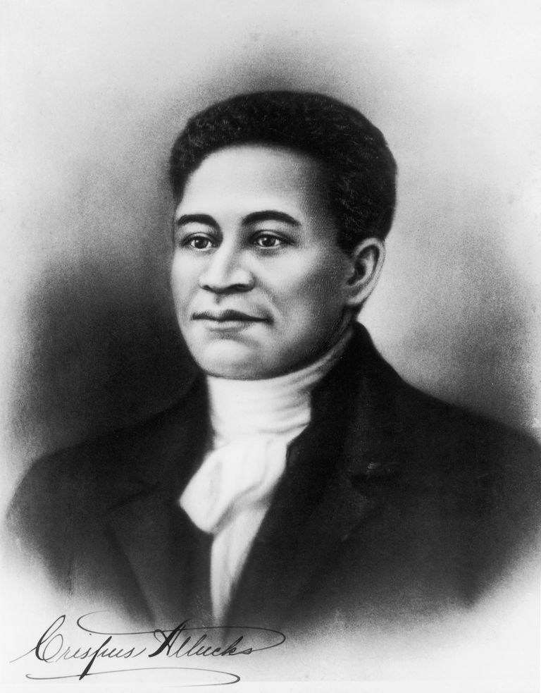 Illustrated portrait of Crispus Attucks