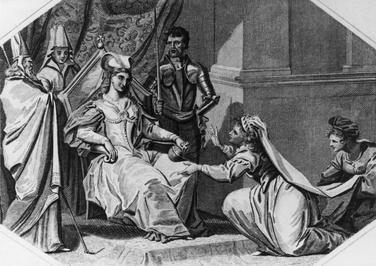 Matilda, wife of Stephen of Blois, pleads with Matilda, Lady of the English