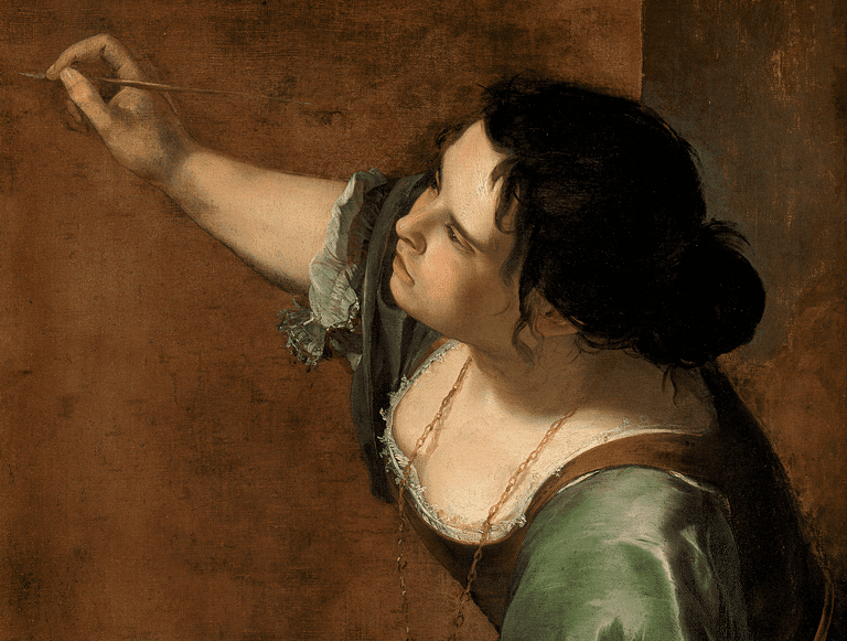 Self-portrait as the Allegory of Painting (La Pittura), Artemisia Gentileschi.