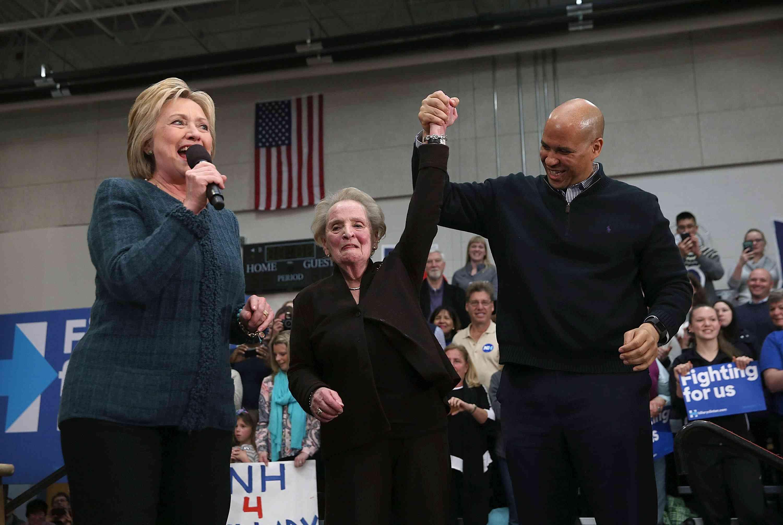 Hillary Clinton, Madeleine Albright, Cory Booker