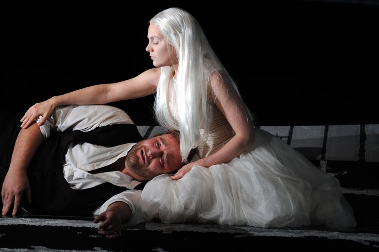 Anne-Sophie Duprels (as Rusalka) and Jeffrey Lloyd-Roberts (as The Prince) perform in the production Dvorak's 'Rusalka.'