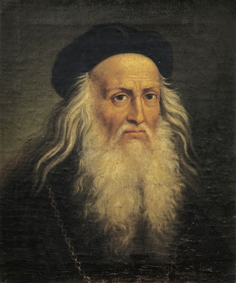 Portrait of Leonardo da Vinci, by Lattanzio Querena