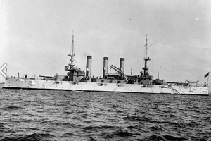 USS Minnesota (BB-22) as part of the Great White Fleet