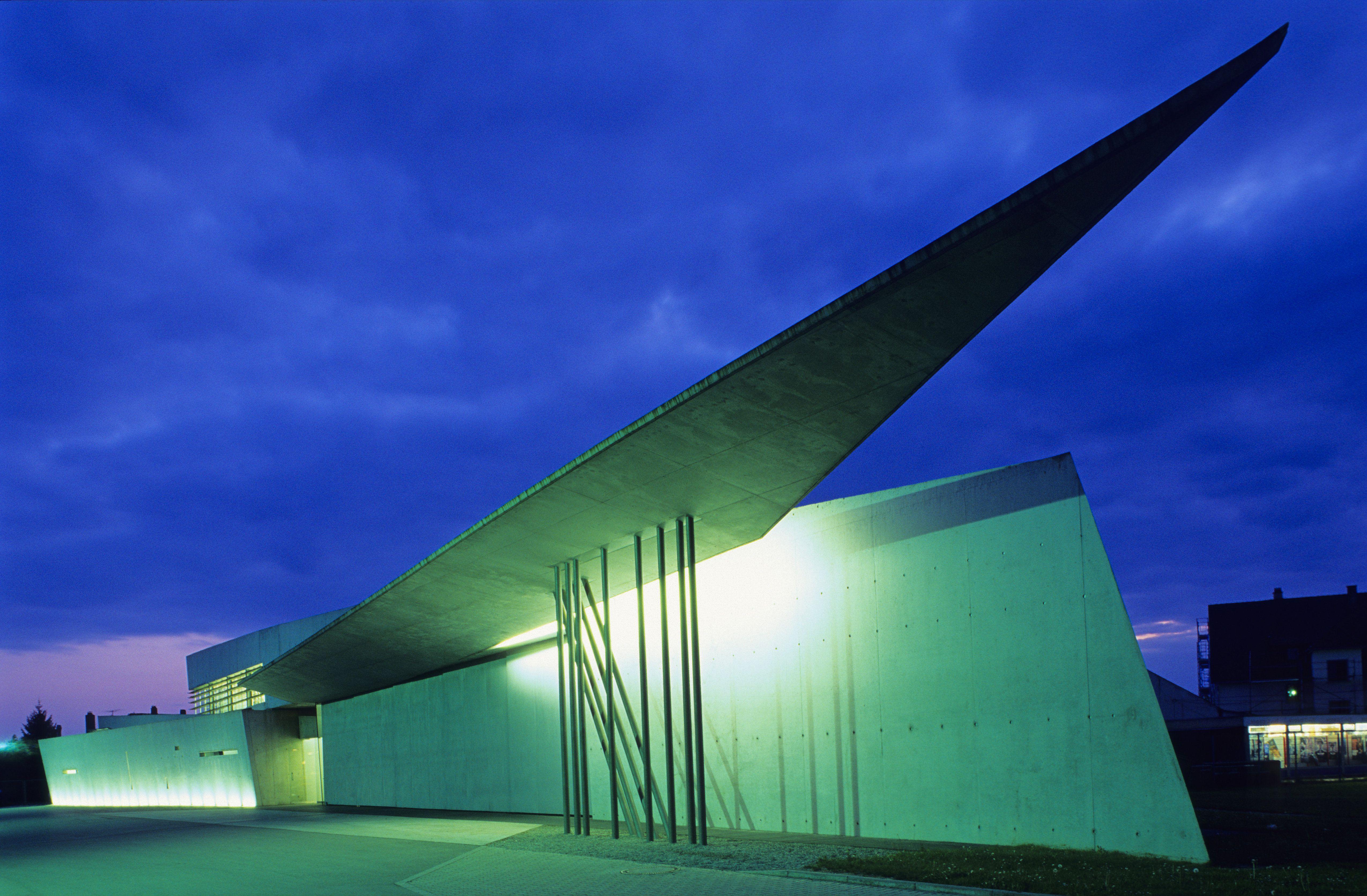 Zaha Hadid's angular Vitra Fire Station, Weil am Rhein, Germany, Built 1990 – 1993