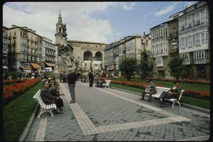 Park Scene in Plaza de Espana