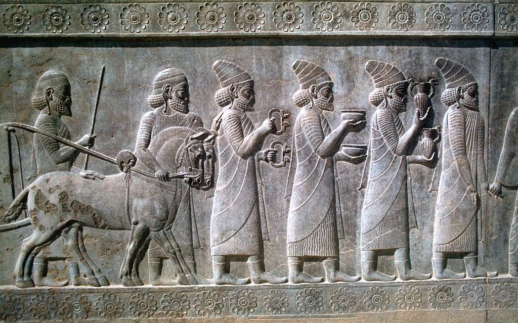 Syrians bearing tribute to Darius the Great of Persia
