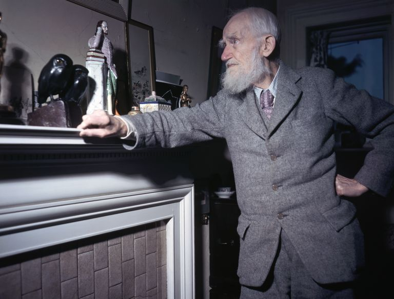 George Bernard Shaw Standing at Mantel