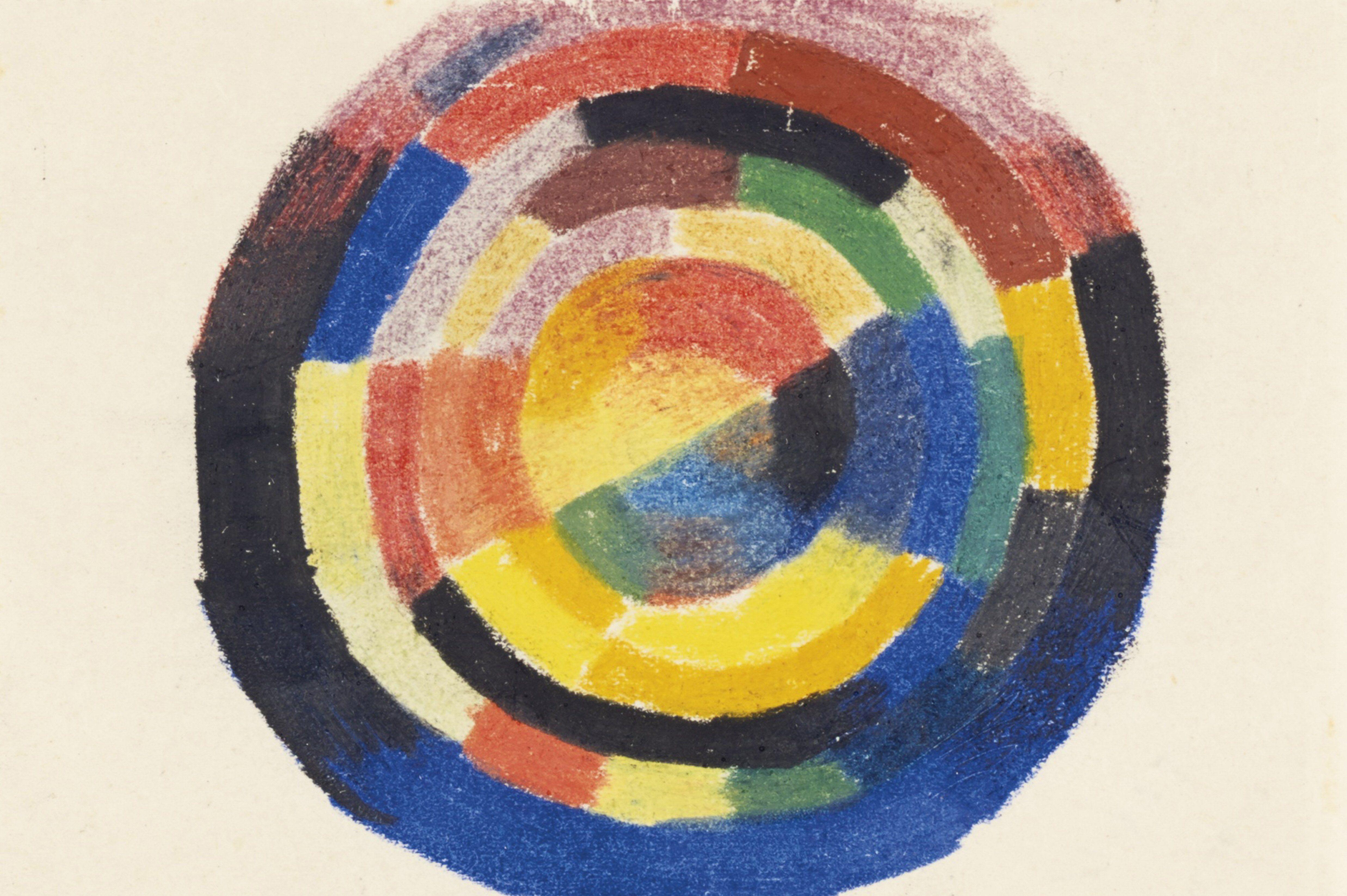 """Color Wheel von August Macke (1887-1914) von der deutschen expressionistischen Gruppe """"The Blue Rider""""."""