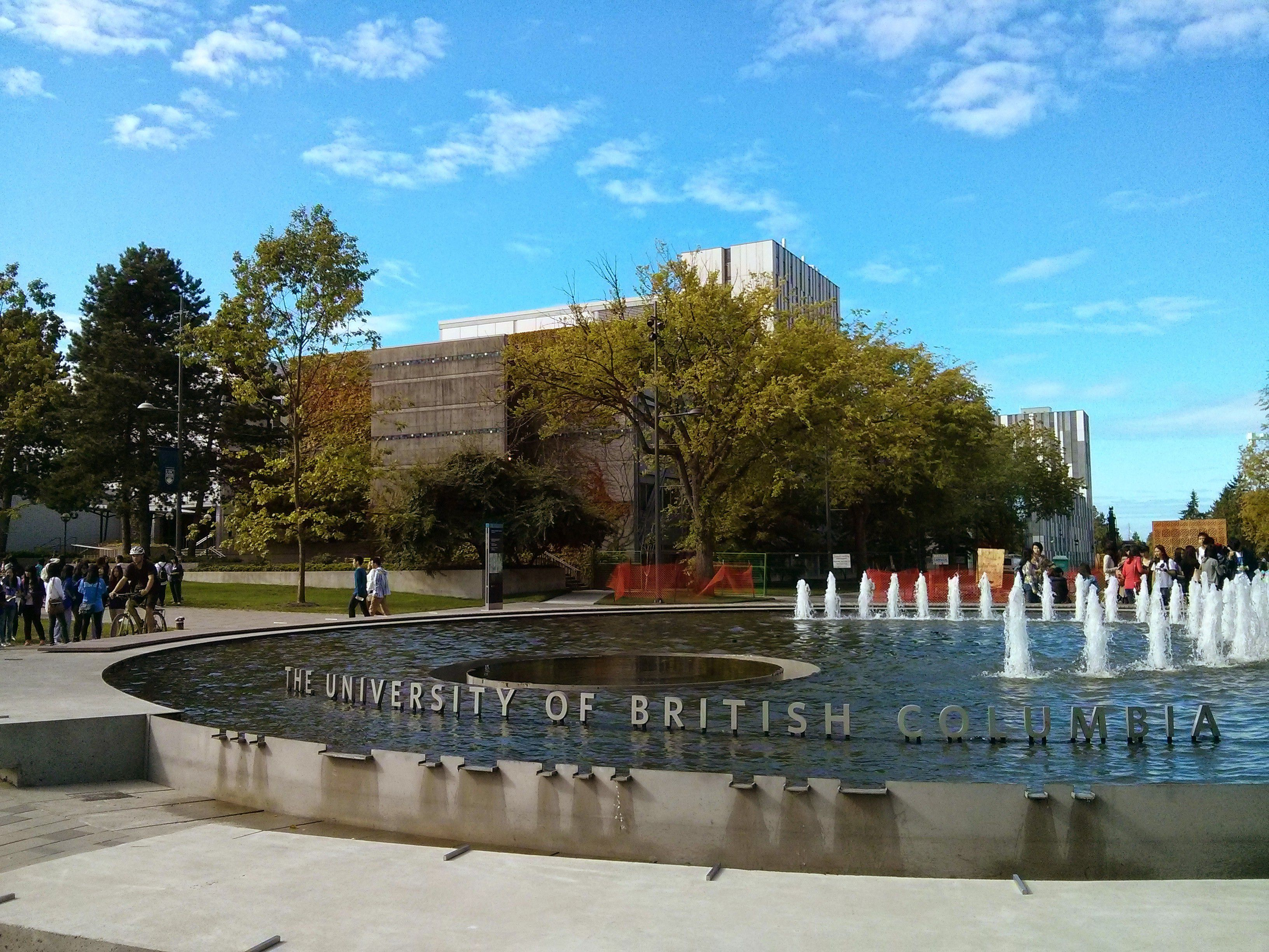 UBC campus in Vancouver, BC
