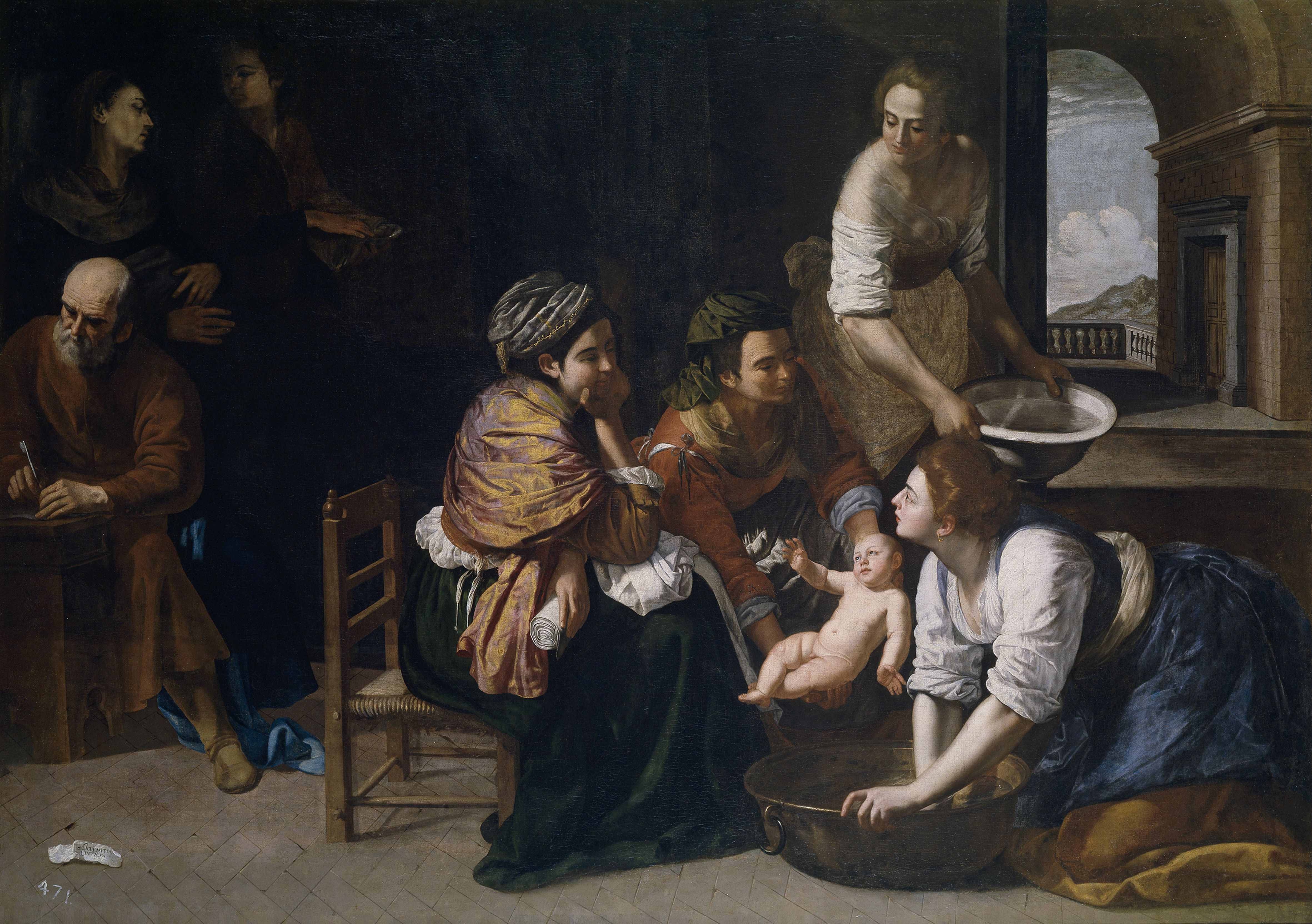 Painting depicting the Birth of Saint John the Baptist
