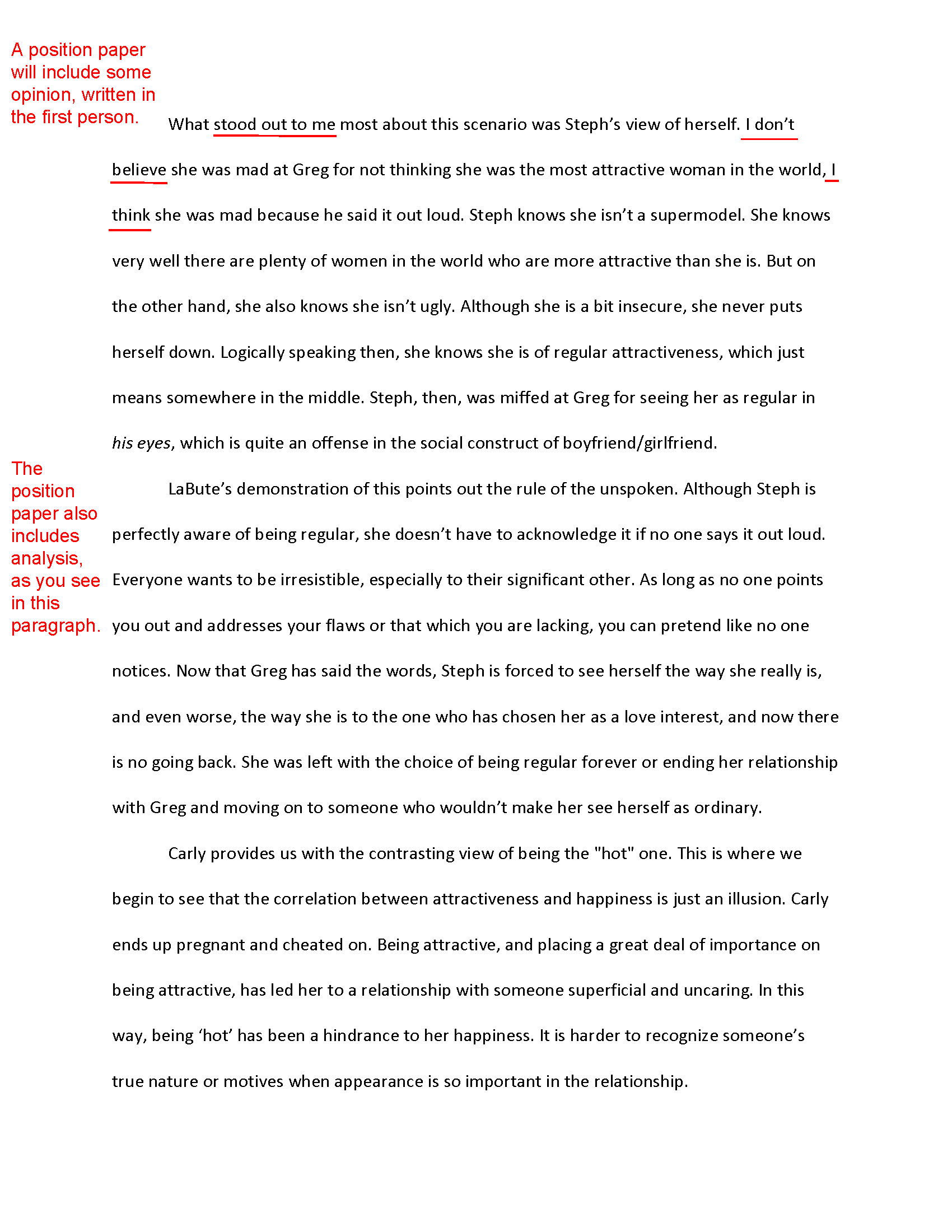 sample humanities research paper format