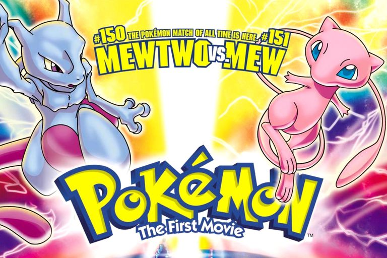 Mewtwo and Mew in Pokemon: The First Movie