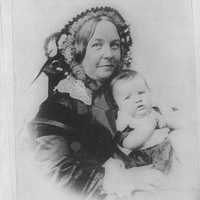 Elizabeth Cady Stanton and her daughter, Harriot.