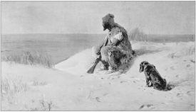 Antique photo of paintings: Crusoe