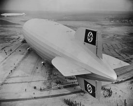The Hindenberg landing in Germany