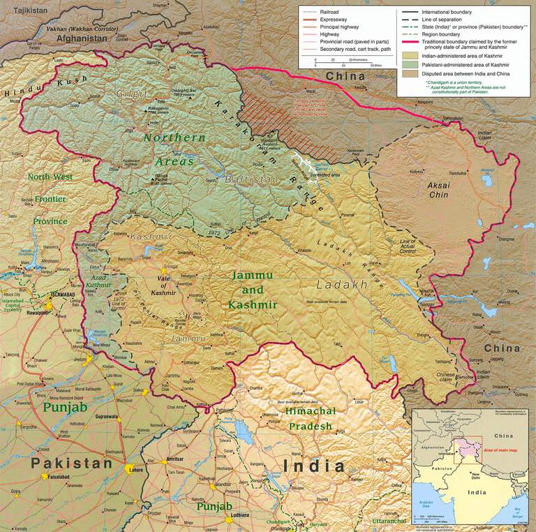 Jammu and Kashmir also border on the restive Chinese provinces of Tibet and East Turkestan