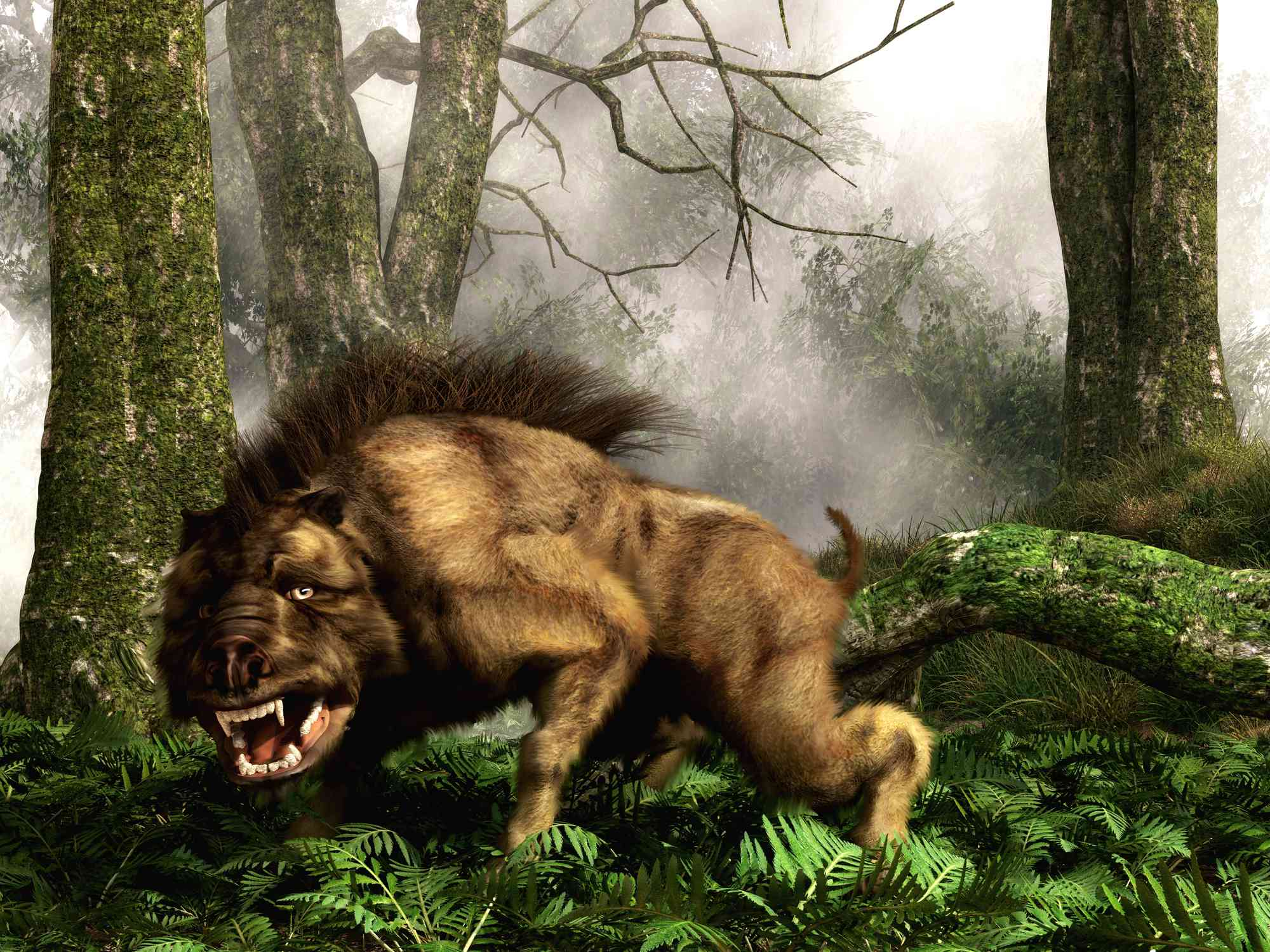 This is a Daeodon, also known as Dinohyus, an ancient relative of the wild boar
