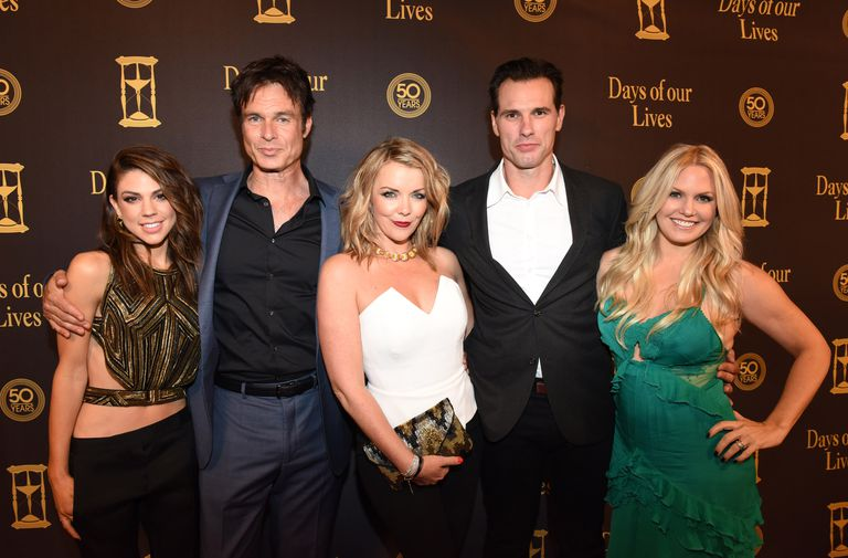 Actors Kate Mansi, Patrick Muldoon, Christie Clark, Austin Peck and Terri Conn attend the Days Of Our Lives' 50th Anniversary Celebration at Hollywood Palladium