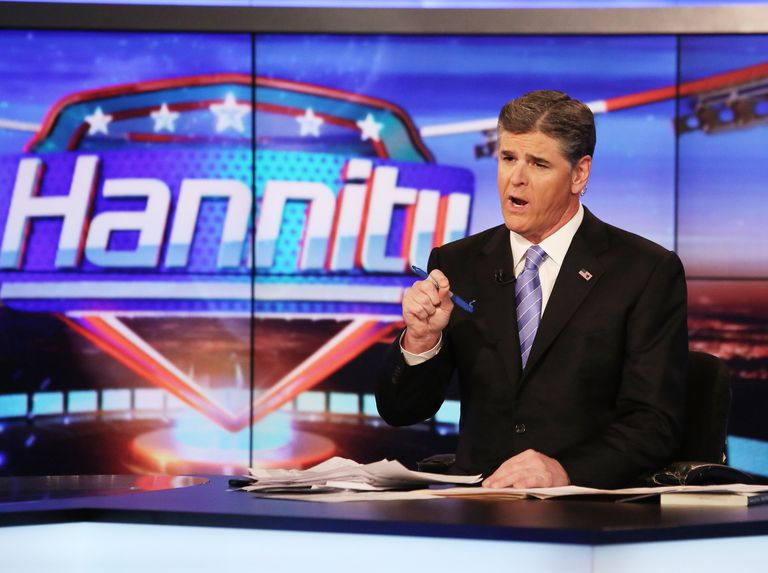A photo of Sean Hannity on 'Hannity With Sean Hannity'
