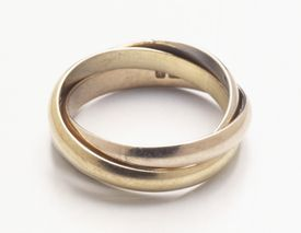 Rose, white, and yellow gold all contain the metal gold. Colored gold contains other elements, too.