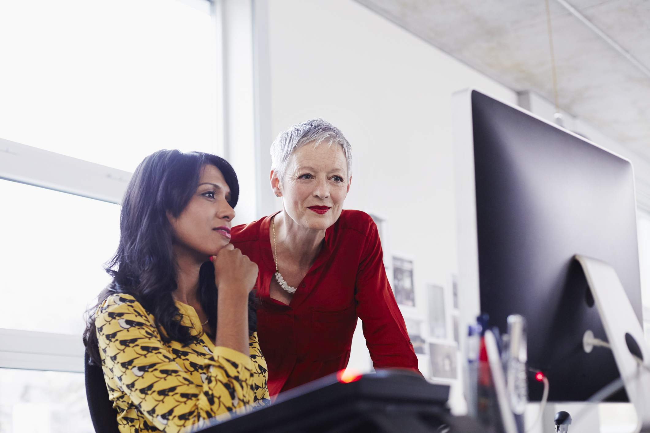 Businesswomen on computer