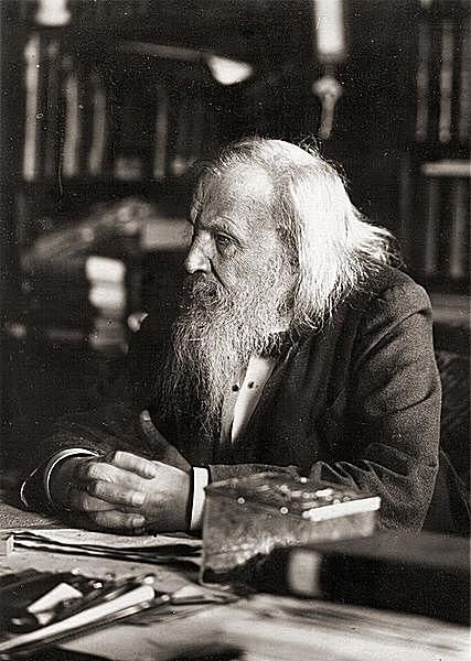 Dmitri Mendeleyev (or Dmitri Mendeleev) is credited with developing one of the first periodic tables