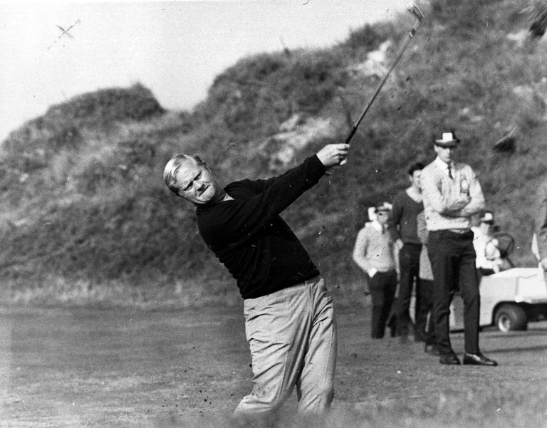 Jack Nicklaus hitting a golf shot