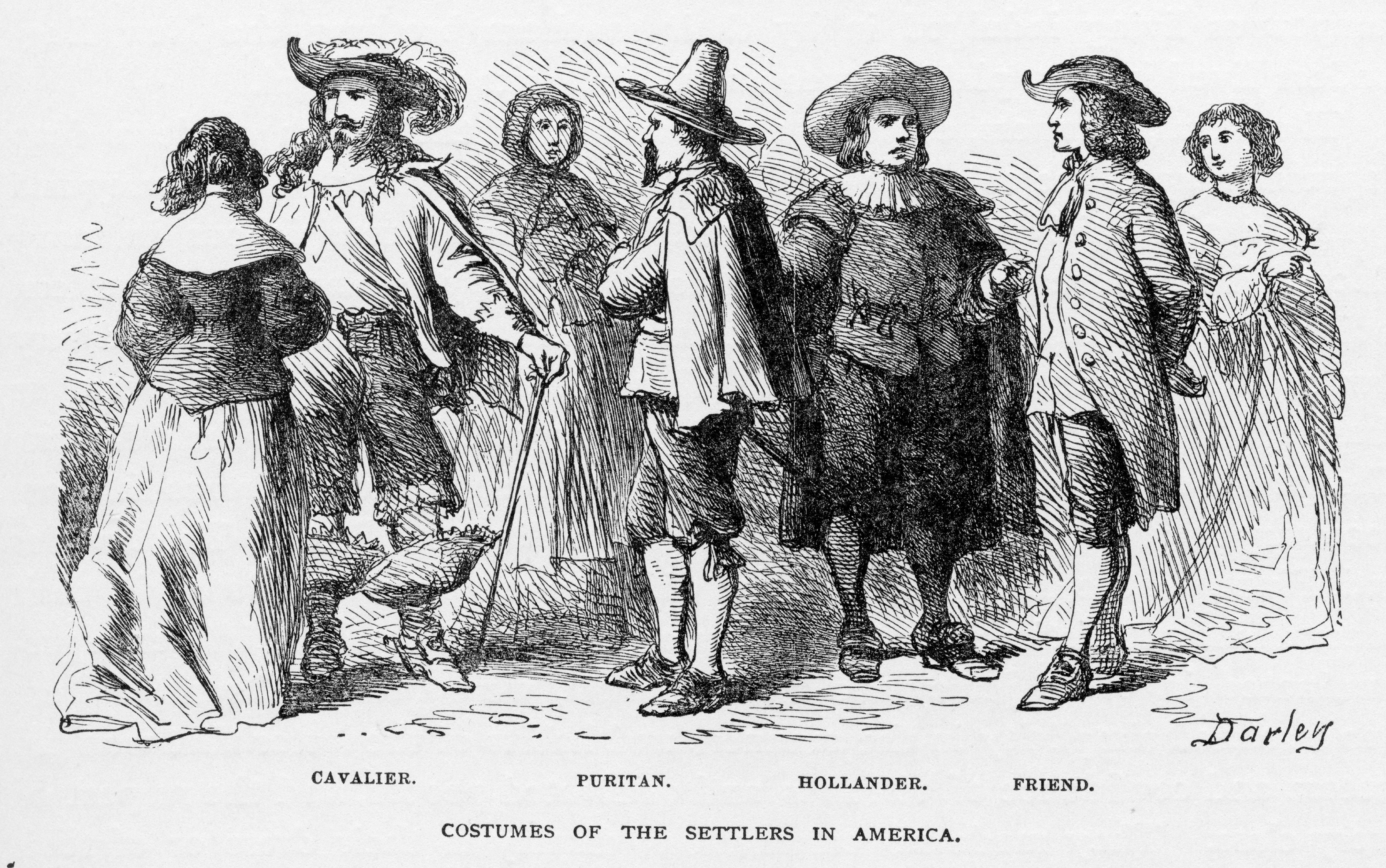 Costumes Of The Settlers Of America