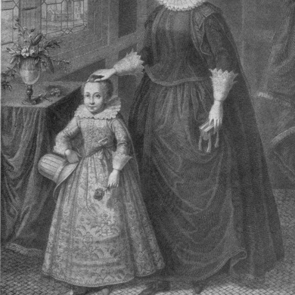 Mary, Queen of Scots, with her son James, future King of Scotland and King of England