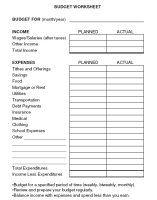 download budget worksheets to help you keep a budget - Basic Budget Worksheet