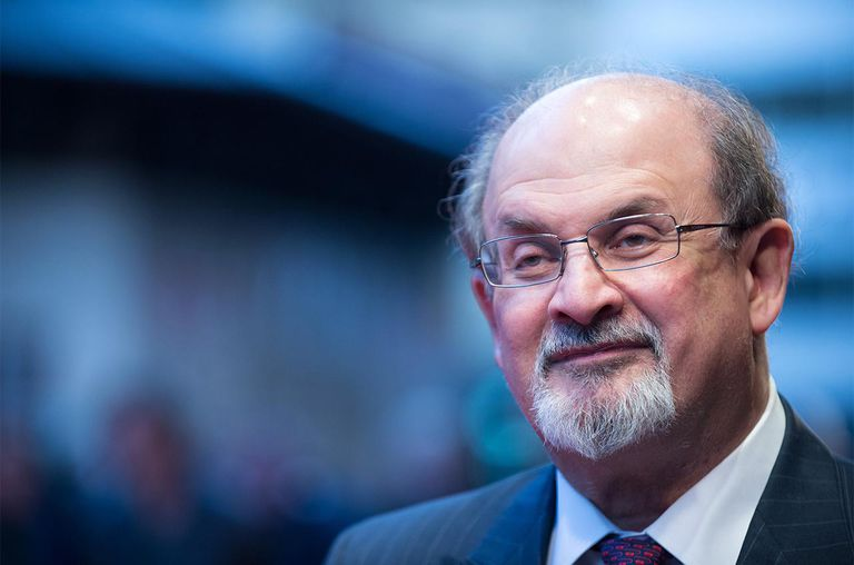 Salman Rushdie Attends The Premiere Of Midnights Children During 56th BFI London Film