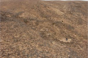 Desert Kite Archaeology Sites in the Negev South of Israel
