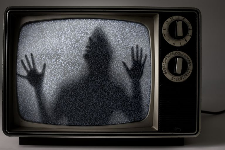 Television haunted with man's image
