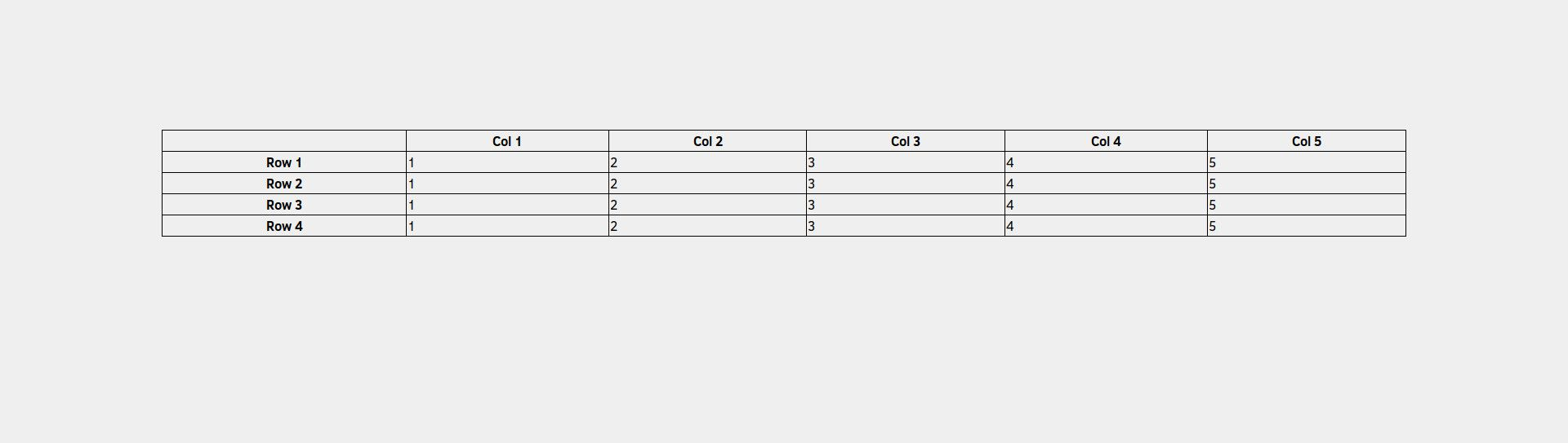 Using CSS to Add Internal Borders in an HTML Table