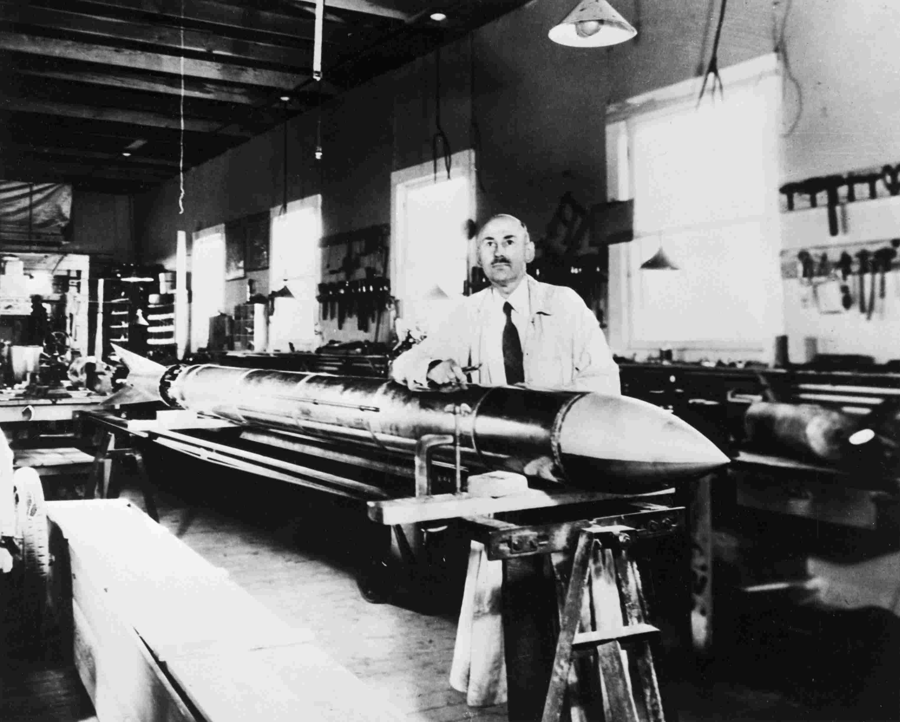 Robert H. Goddard with Rocket