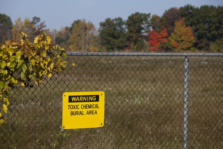 The site of the former Velsicol chemical plant, one of the costliest contamination cleanups