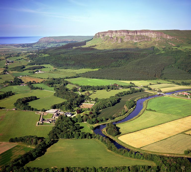View of the River Roe valley in Londonderry, Ireland, where it is believed that many Munros originated.