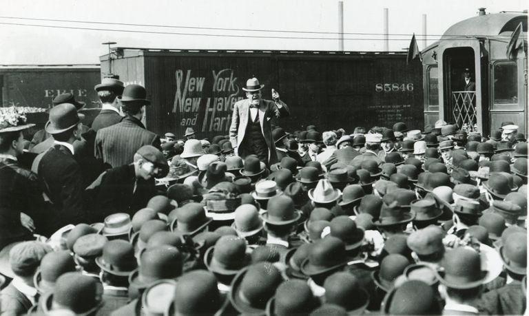 Eugene V. Debs Campaigns in 1908