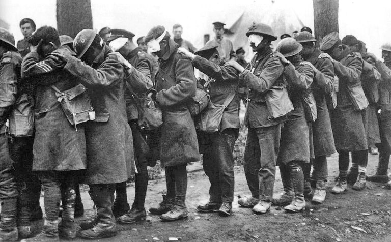 British Gas Casualties 10 April 1918