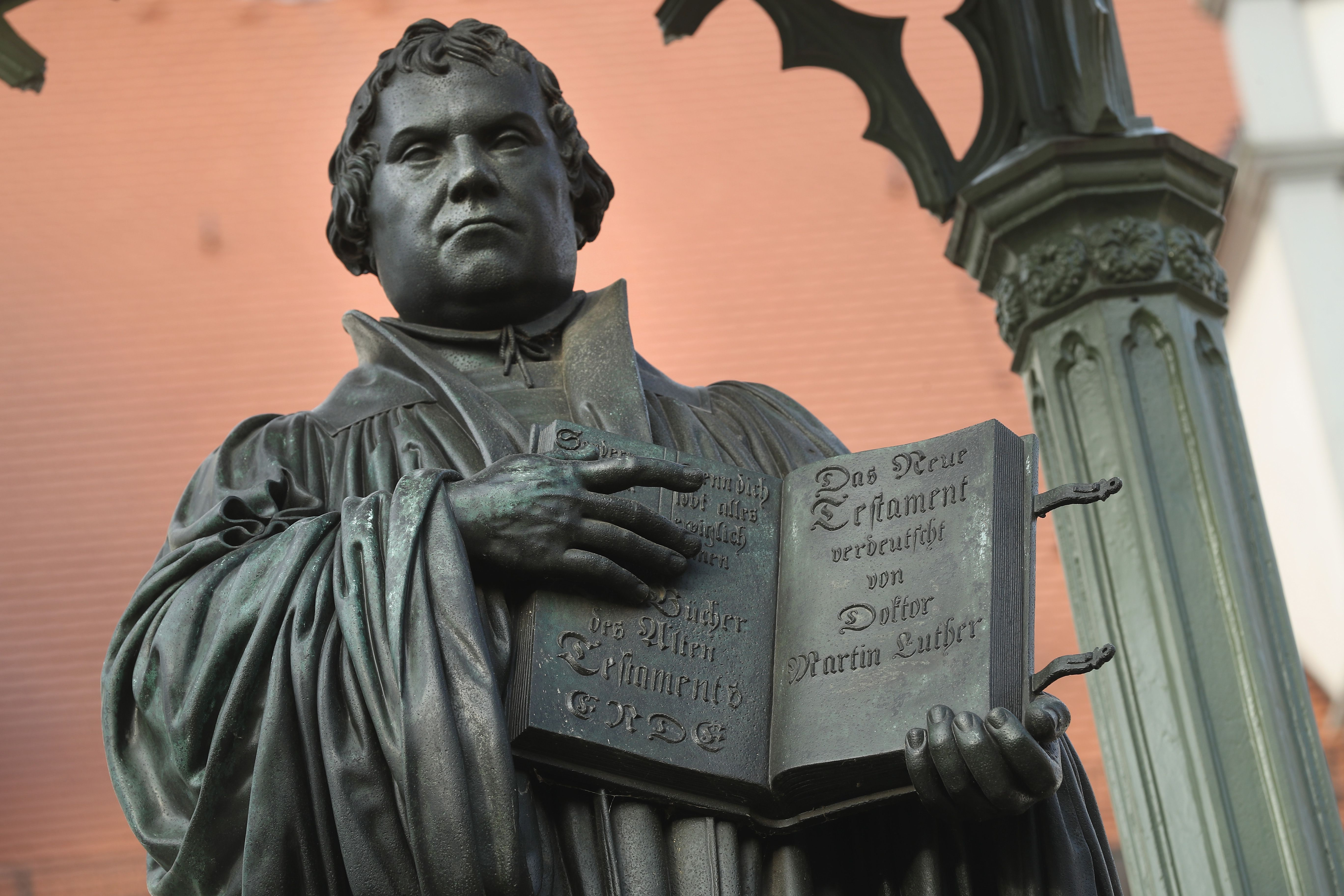 A statue of 16th-century theologian Martin Luther