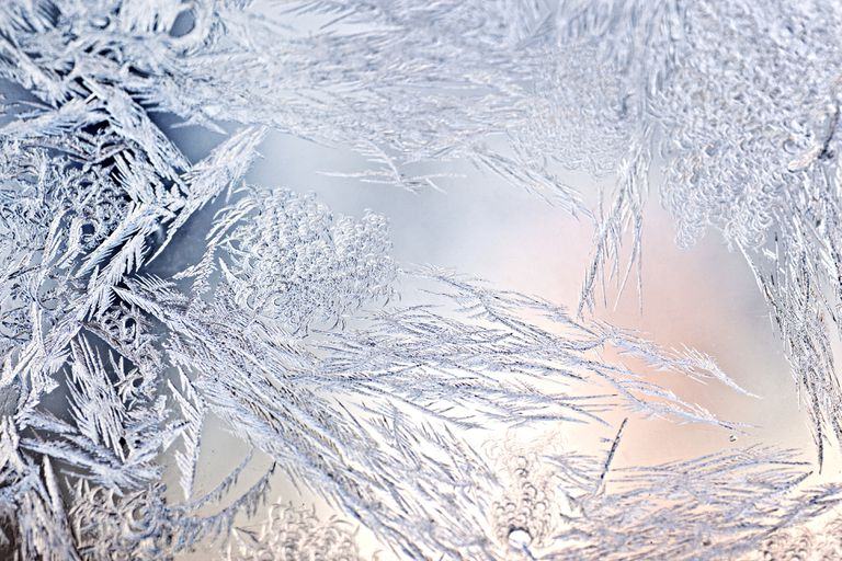 Ice crystals on window often form via desublimation.