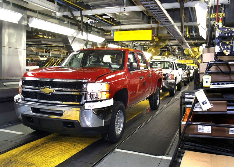 Chevy truck assembly