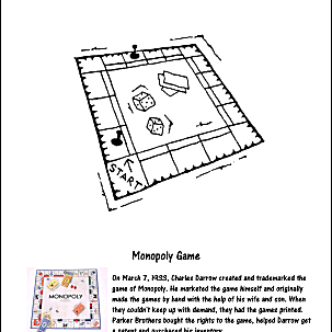 Monopoly Game Coloring Page