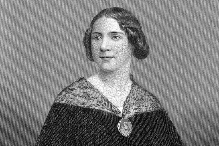 Engraved portrait of Swedish opera singer Jenny Lind.