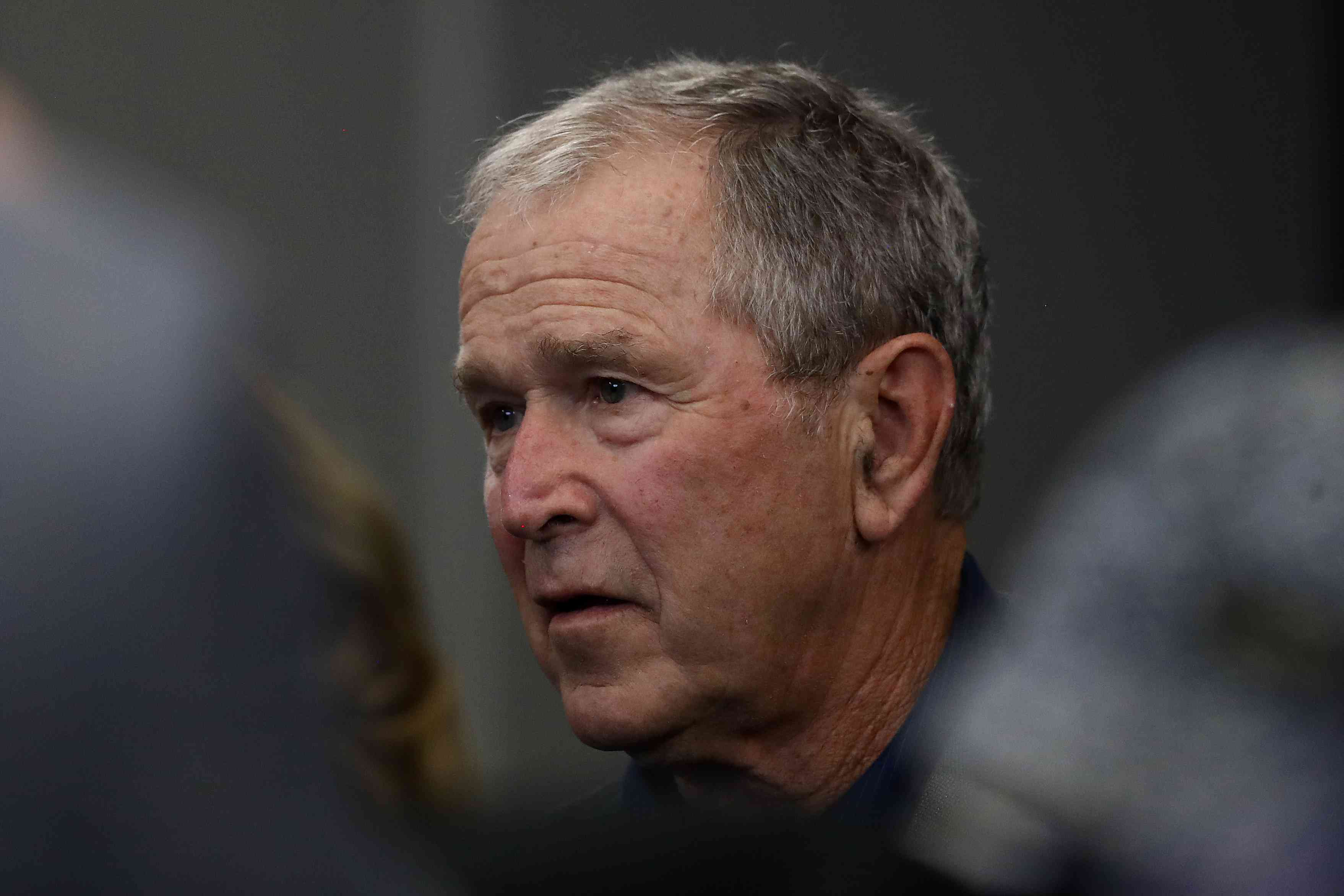George W. Bush attends an NFL Game