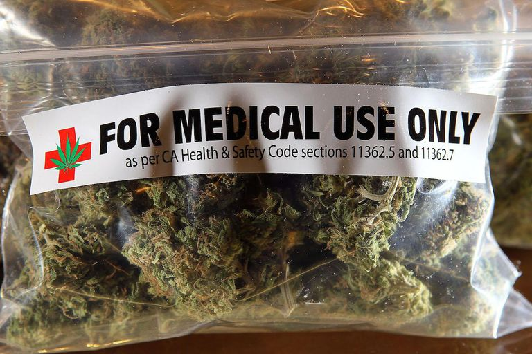 A bag of medicinal marijuana