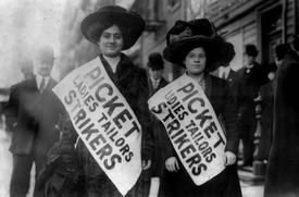 """Women on strike in the 1909 """"Uprising of the 20,000"""""""