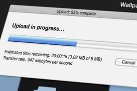 Uploading image screenshot of progress bar